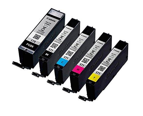 5Cartucce originali Setup per stampante Canon PGI-570/CLI-571 für MG5750 MG5751 MG5752 MG5753 MG6850 MG6851 MG6852 MG6853 MG7750 MG7751 MG7752 MG7753 BK, PBk, Cy, Ma, Ye; confezione neutra
