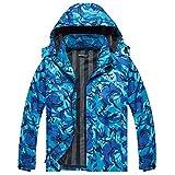 WULFUL Men's Lightweight Waterproof Hooded Rain Jacket Outdoor Raincoat Shell Jacket for Hiking