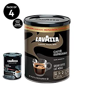 Lavazza Caffe Espresso Ground Coffee Blend, Medium Roast, 8-Ounce Cans,Pack of 4 (B001EQ5ERI) | Amazon price tracker / tracking, Amazon price history charts, Amazon price watches, Amazon price drop alerts