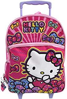 Hello Kitty 16 Rolling Backpack Bows