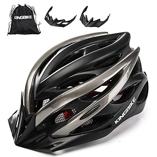 KING BIKE Fahrradhelm Helm Bike Fahrrad Radhelm mit LED Licht FüR Herren Damen Helmet Auf Die Helme Sportartikel Fahrradhelme GmbH RennräDer Mountain Schale Mountainbike MTB M/L(54-59CM)