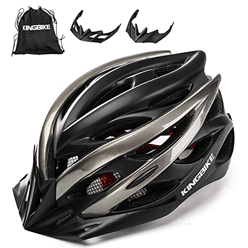 KING BIKE Casco de Bicicleta con Luz LED para Hombres Damas Casco En Los Cascos Artículos Deportivos Cascos de Bicicleta Ltd...