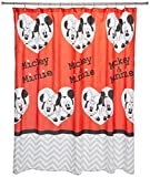 Disney Mickey Mouse/Minnie Mouse Luv You More 70' x 72'  Fabric Shower Curtain
