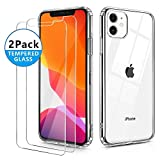 OULUOQI Compatible with iPhone 11 Case 2019, Tempered Glass Screen Protector [2Pack] with Shock…
