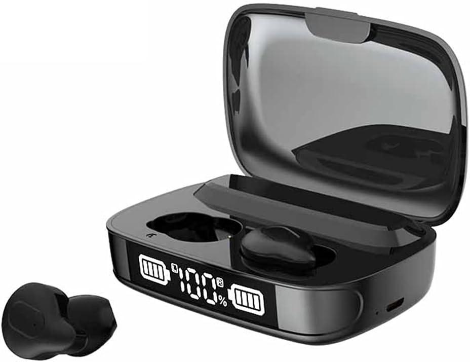 SAISZE Bluetooth 5.0 Earbuds, Deep Bass Ture Wireless Bluetooth Earbuds, Waterproof USB Charging Earphone.