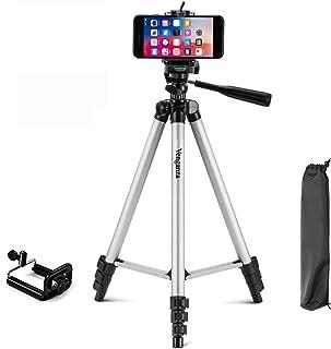 Osveta Adjustable Aluminium Alloy Tripod Stand for Phones, 360 mm -1050 mm, 1/4 inch Screw with Mobile Holder Bracket