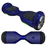 FidgetFidget Wrap Smooth Blue Vinyl Skin Wrap For Electric Balance Scooter Hoverboard 6.5'