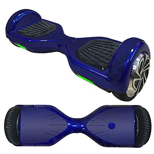 FidgetFidget Wrap Smooth Blue Vinyl Skin Wrap For Electric Balance Scooter Hoverboard 6.5'