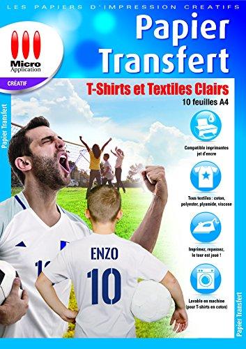 Papier Transfert Pour Textiles Clairs, 10 Pièces