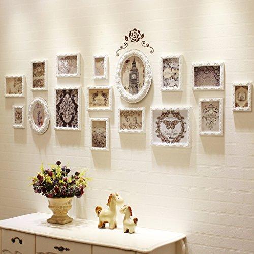 Cornice foto Set da Parete con Grandi cornici Set di 13 Pezzi per Parete Camera da Letto con Soggiorno -LI Jing Shop (Dimensioni : 204cmX68cm)
