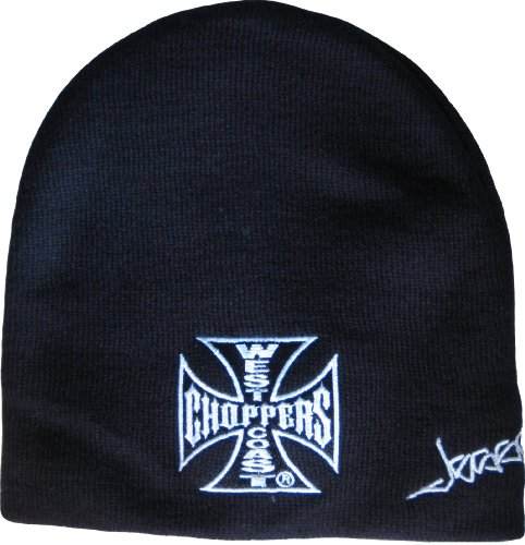 West Coast Choppers WCC Bonnet motif croix de fer, noir