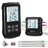 Navidue Grillthermometer mit 4 Sonden, Kabelloses Digitales Fleischthermometer für BBQ, Grill,...