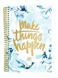 bloom daily planners UNDATED Calendar Year Day Planner - Passion/Goal Organizer - Monthly/Weekly Agenda Book with Tabs (January to December) - 6' x 8.25' - Make Things Happen