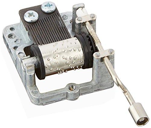 Laxury Meccanismo Carillon A Manovella Fai Da Te, 18 Note, Diversi Brani Musicali Disponibili, Metallo, Silver, Tune:For Elise