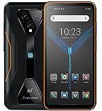 5G Juego Móviles Resistentes Blackview BL5000, Dimensity 700 8GB+128GB, IP68 Móvil Antigolpes Android 11, 6.36' FHD+, 4980mAh Batería, Sistema Juego Profesional, Cámara Ultra Ancha 125 °, NFC Naranja
