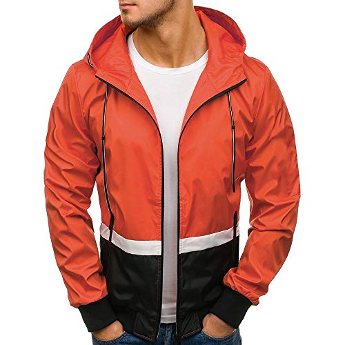 Lowest Prices! NEARTIME Mens Sweatshirts Winter Warm Hooded Patchwork Coat Zipper Slim with Pocket J...