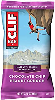 CLIF BAR - Energy Bars - Chocolate Chip Peanut Crunch - (2.4 Ounce Protein Bars, 12 Count)