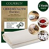 Colperun Étamine, 90 Grade, 1,6m², 90cm X 180cm, 100% Gaze Coton Non Blanchi Étamine Fromage...