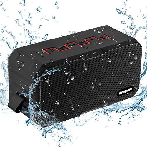 BluetoothAltavoz,Deepow 10W IP67 Impermeable Estéreo AltavocesInalámbrico,Altavoz Portátil con Subwoofer,MicrófonoIncorporado para manos libres,reproductor de música con 3000mAh batería y 12 Horas de Emisión Continua paraandroid/ios/ordenador/tarjetas