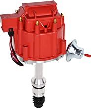 A-Team Performance HEI Complete Distributor 65K Coil Compatible with Oldsmobile V8 Small Block Big Block 260 307 330 350 400 403 425 455 One Wire Installation Red Cap