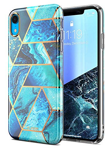 i-Blason Cosmo Lite Series Designed for iPhone XR 2018 Release, Premium Hybrid Slim Protective Bumper Case with Camera Protection, Blue, 6.1