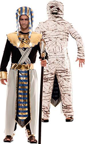 EUROCARNAVALES Disfraz Doble de Faran Egipcio y Momia para Hombre