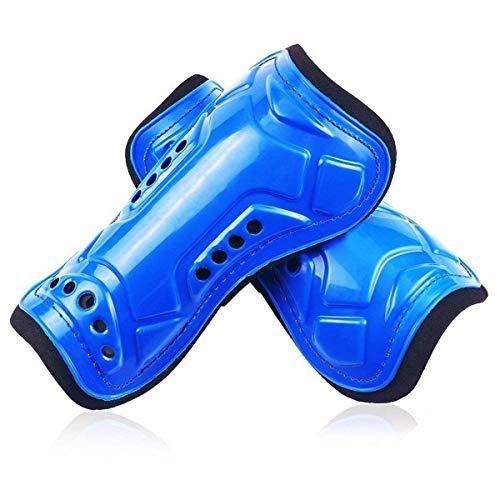 jiele Espinilleras de fútbol para niños, ligeras y transpirables, equipo de protección para pantorrillas para niños de 6 a 12 años, adolescentes, niños y niñas (azul)