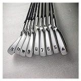 Golf Club G410 Set De Hierro G410 Golf Irons Golf Clubs 4-9SUW R O S Flex Steel Y Eje DE GRAFÍA con Cubierta DE LA Cabeza (Color : NS.Pro.950NEO S)