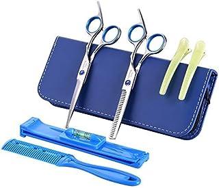 Professional Barber 8 Pcs Kit Hair Cutting Scissors Set,Thinning Scissor,Bangs Artifact,Hair Comb,Leather Scissors Case (C...