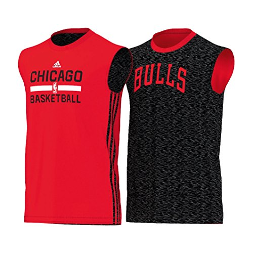 adidas Kurzarm Shirt Winter Hoops Reversible Chicago Bulls Camiseta, Hombre, Rojo-NBA CBU, Small