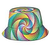 Chapeau bob en polyester - Fleurs artistiques en aquarelle - Style rétro - Jardin prairie - - Taille Unique