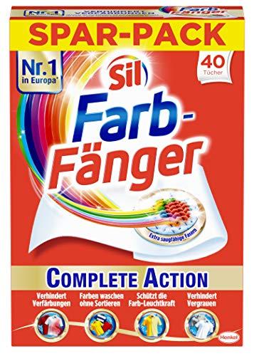 Sil Farb-Fänger Tücher Complete Action, schützen vor Verfärbungen der Wäsche (1 x 40 Stück)