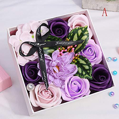 LGYKUMEG Soap Rosenblättern und Duschgel mit Rosenblättern für die Dekoration des Hauses, Valentinstag und Feste,A