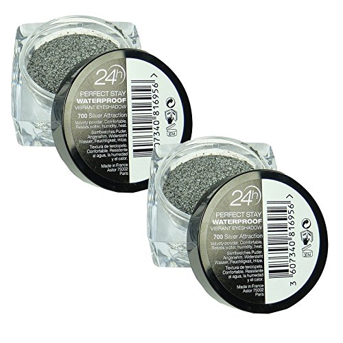 Astor 24h Perfect Stay 700 Silver Attraction - Lidschatten wasserfest Make up - 2 Stück