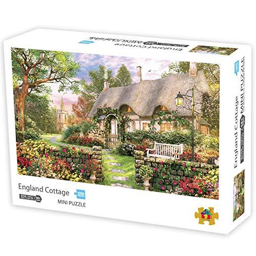 Herize Mini Puzzle 1000 Teile Landschaf | Cottage Puzzle für Erwachsene Kinder | Kinderpuzzle Spiele ab 8 Jahren | Spielzeug für Mädchen Jungen Teenager | Geschenke für Mama Papa | 42*29.7CM.