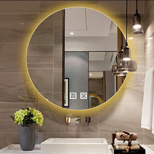 Makeup mirror Espejo de baño con Luces LED, Espejo de Maquillaje Moderno de Pared, 50-80 cm Espejo de baño retroiluminado sin Marco...