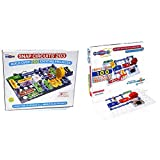 Snap Circuits 203 Electronics Exploration Kit | Over 200 STEM Projects | 4-Color Project Manual | 42 Snap Modules | Unlimited Fun & Elenco Snap Circuits Jr. SC-100