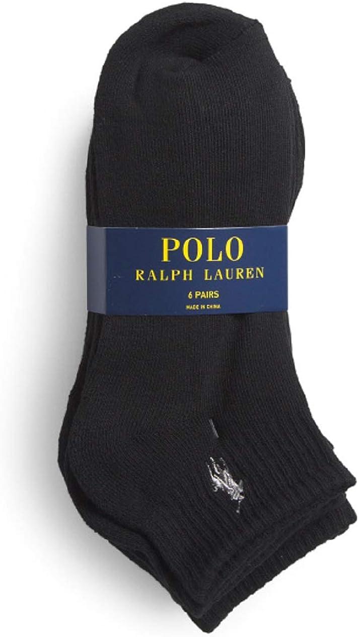 POLO RALPH LAUREN Men's Quarter Socks, SIZE 6-12