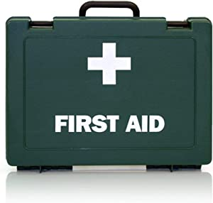 HSE Compliant Workplace First Aid Kit     Emergency First Aid kit for Caravan  Garage  Shops  Offices REAL ACCESSORIES 1-10 Person