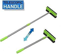 Volbit Telescopic Window Cleaner - Aluminium Handle Double Sided Window Brush Soft Sponge Cleaner Glass Wiper - (Standard Size, Random Green)