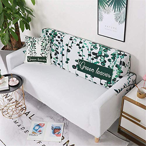 Sofa Cover Stretch L-Shaped Sofa Cover, All-Inclusive Non-Slip Stretch Sofa Cover, Polyester Living Room Combination Sofa Cover, Tree Rattan Printing 4-Seater 235x300cm Sofa Cover 3 Seater