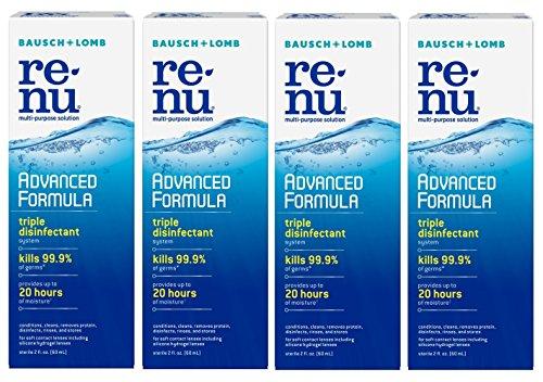 Renu Fresh Multi-Purpose Contact Lens Solution, Travel Size 2 Fl Oz (Pack Of 4)