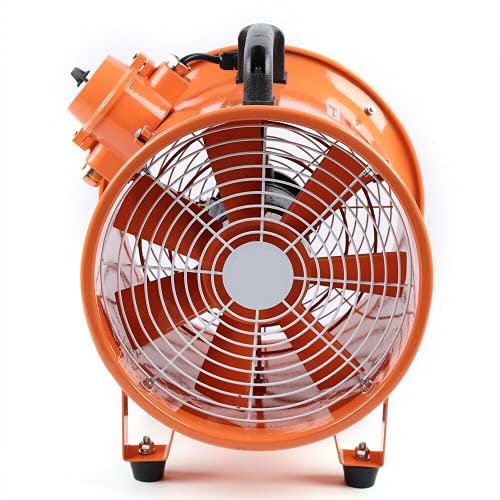 Extractor ventilador de 12 pulgadas, portátil, industrial, con canal de PVC de 5 m, ventilador de construcción, tubo de escape comercial, taller para fábricas, sótanos, astilleros, granjas