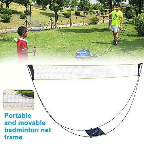 Urstory1 - Rete da badminton rimovibile per badminton portatile, con supporto in rete per esercizi di tennis, con barra di supporto, accessori per bam