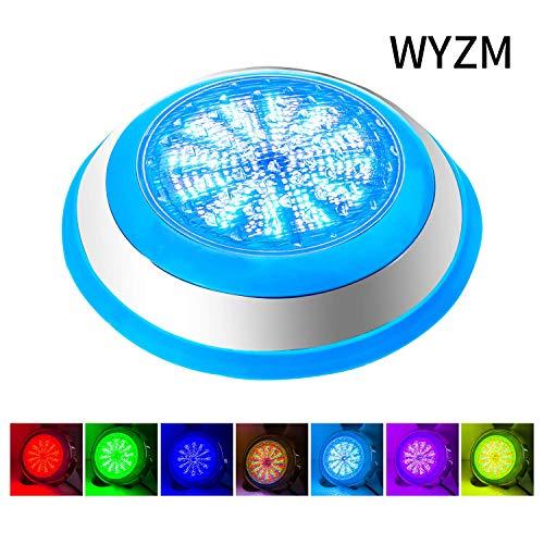 Foco LED Piscina,AC 12V 54W LED Piscina Iluminacion,IP68 LED Sumergible de...