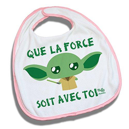 Bavoir rose Yoda