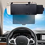 Spurtar Sun Visor Extender for Car with Polycarbonate Polarized Lens, Anti-Glare Side Window Windshield Sun Visor Protects from Sun Glare, Snow Blindness, UV Rays, Universal for Cars