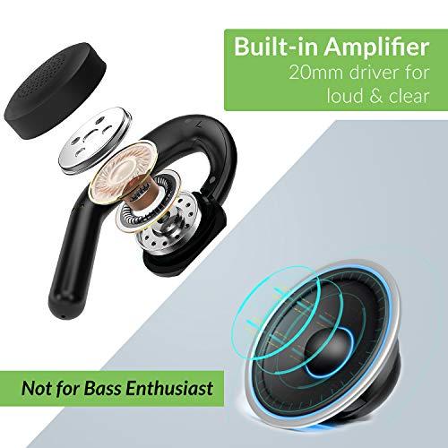 Avantree TWS116 70Hrs Bluetooth 5.0 Ecouteurs sans fil TV Television, sans Latence, Casque Ouvert, Haut-parleurs 20mm Puissants, Dock de Charge, Confortable Longue Durée et Attention à l'environnement