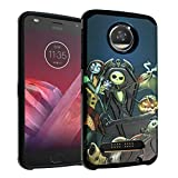 for Moto Z2 Force Case, IMAGITOUCH 2-Piece Armor Case with Flexible Shock Absorption Case & Nightmare Before Christmas Design Cover for Motorola Z 2 Force-The Nightmare Before Christmas