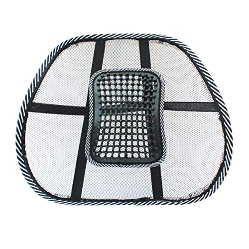 Nihlsfen Stuhlmassage Rückenlehnenstütze Mesh Ventilate Kissen Pad Car Office Seat Hervorragende Entspannungsmassage für Sitz im Auto, Büro oder zu Hause